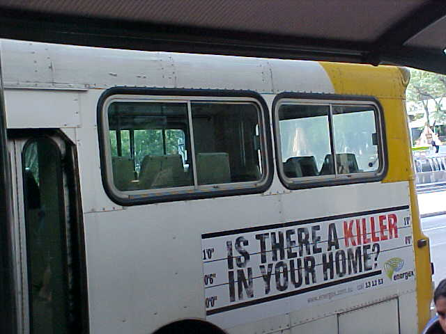 Strange, those advertisement on busses about electrical appliances.... No it is not about me..