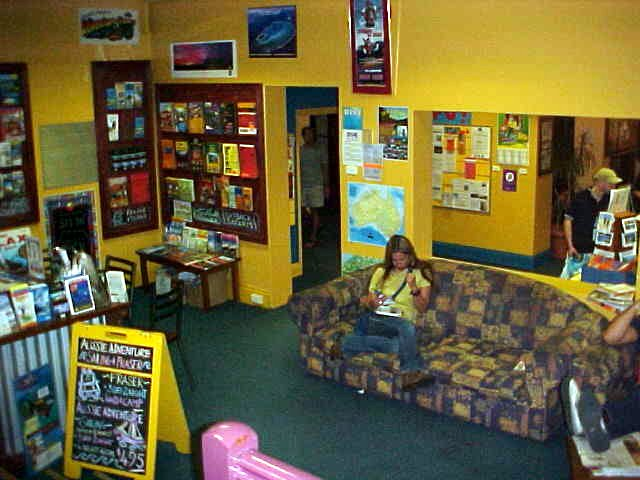 The info and relax area at the Backpacker Palace.