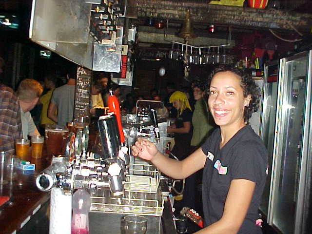 And around 10pm the party atmosphere started in the Downunderbar, the basement of the Backpacker Palace.
