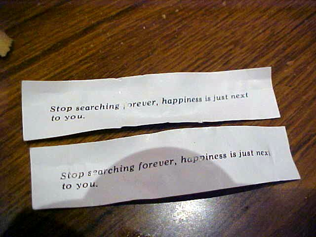 Amazed! After dinner we all got a (American tradition) fortune cookie. So what happened? Liz and her boyfriend Harley both had these messages in them... I rest my case.