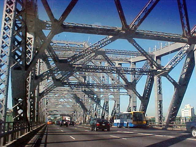 ...spanning the Brisbane river this bridge is Brisbanes most recognisable icon, the Story Bridge is a monument to the city<#k#>'s coming of age.