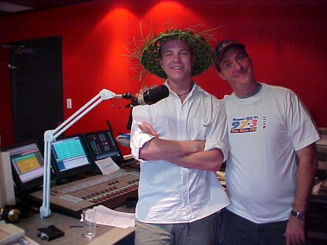 In the studio with Paul from the 97.3FM Breakfastshow.