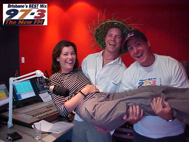The morningcrew complete: Sam and Paul (and the letmestayforaday-guy).