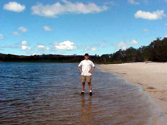 Ramon standing in the Brown Lake.