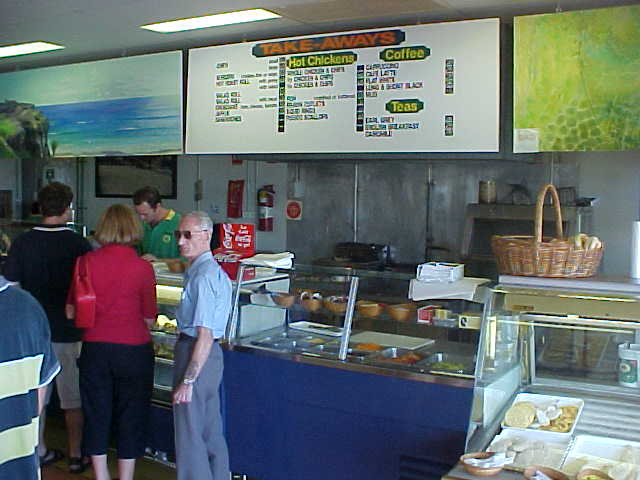 At the local Dunwich bakery, Davids brother helped me out with something to eat, as the Hotel did not want to help me out with that.