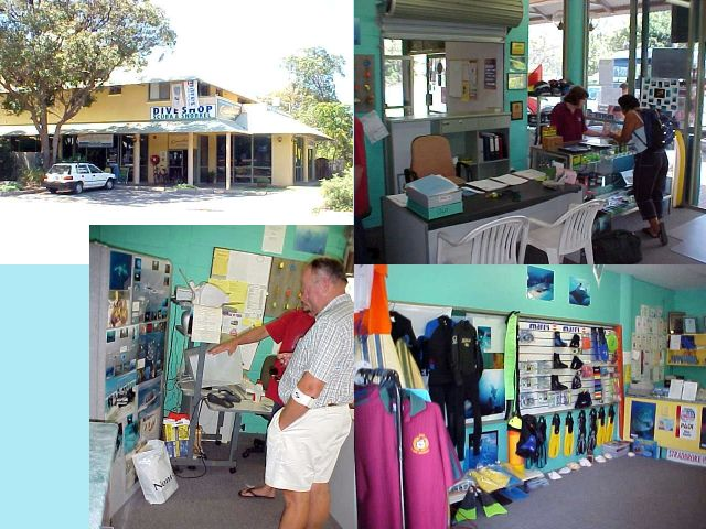 The Straddie Guesthouse and scuba centre on Stradbroke Island.