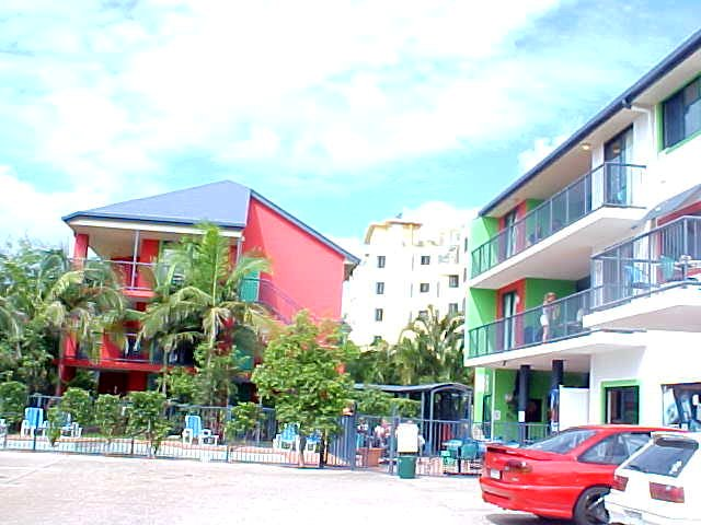 The hostel can host to up to 160 backpackers and has a little pool and a snack corner in the main building.