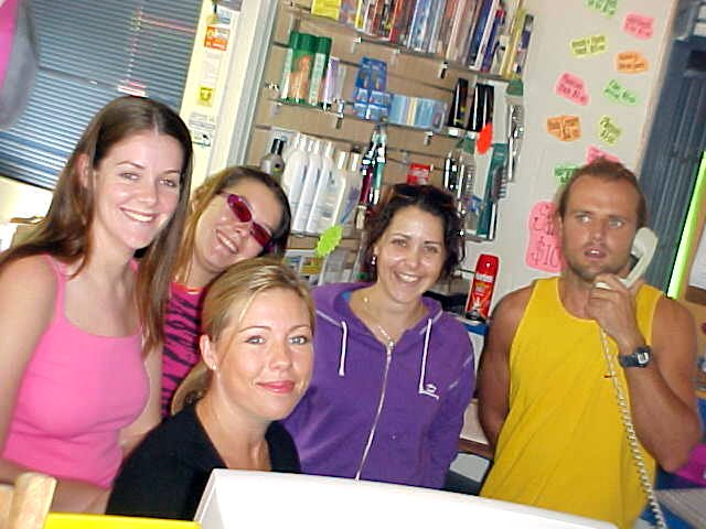 The staff and workers at the Mooloolaba backpackers love to be on the web.