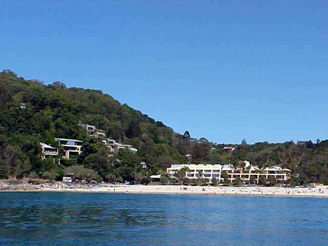 Noosa Beach as seen from the sea