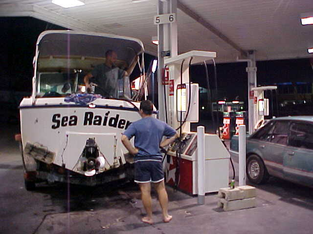 How often do you see a boat fuel up at a gas station?