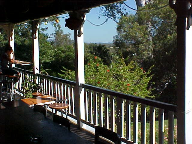 I stayed the night again at the Noosa Halse Lodge, the beautiful Queenslander building with its great views on the veranda.