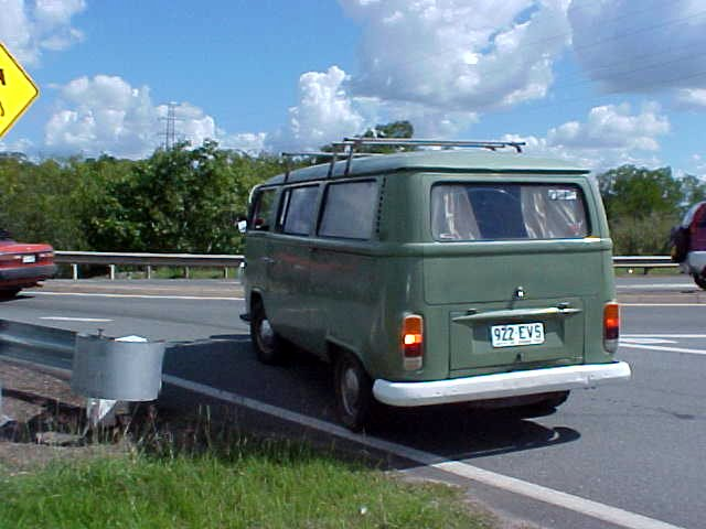 The second person taking me along to Hervey Bay was a full-body pierced and tattooed (as far as I could see) man with long blond dreadlocks, driving this classic VW-van.