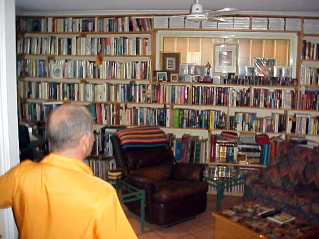 Yep, he is a collectioneur. Books, LPs, CDs, DVDs and a lot of Barbra Streisand.