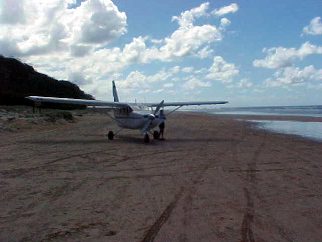 Fraser Island even has its own flirght company, Air Fraser. For 50 dollars you can go for a twenty minute flight.