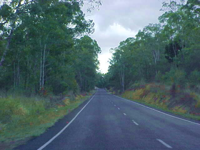 Heading west from Bundaberg, towards the Pacific Highway. I am on my way...