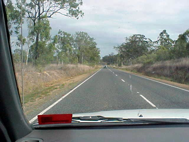 On the road towards Rockhampton.