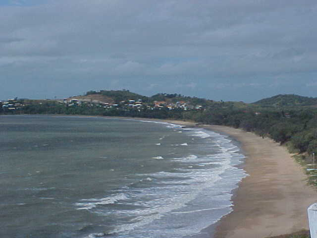 At the Yeppoon coastline it was currently windy and soft-rainy. I could barely make this photo!