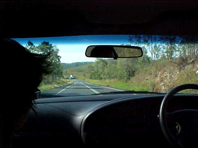 In a car from Mackay to Airlie Beach, just over 300km...