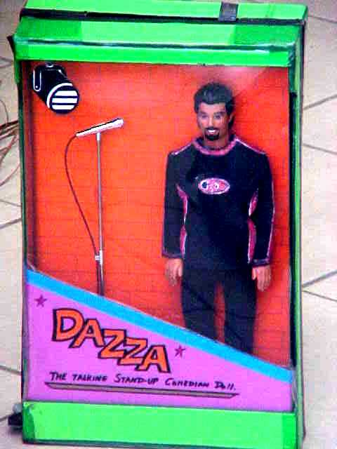 Another joke is this talking standup comedian doll, a real DARREN!