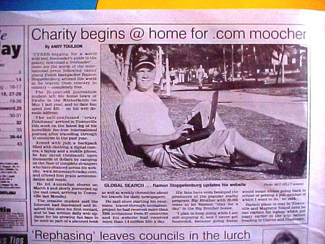 Todays news in The Bulletin. Hey, I am a moocher now!