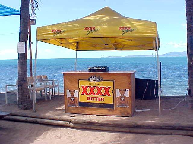 And here at Coconuts everything was being built up for the famous Full Moon Party tomorrow night!