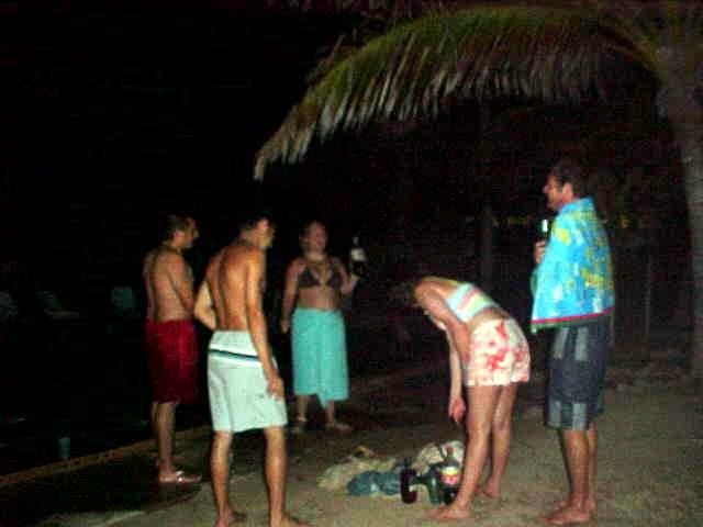 This photo was taken late in the night, around 2am, at the pool. These guys were all going for a swim to get sober again. Yeah right.