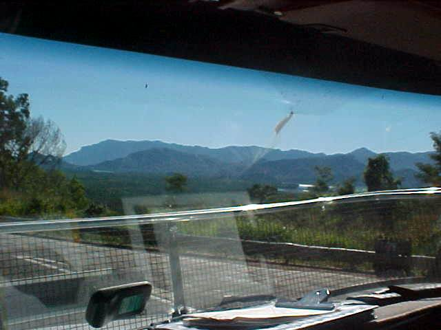 My view on Hinchinbrook Island as seen from the high truck.