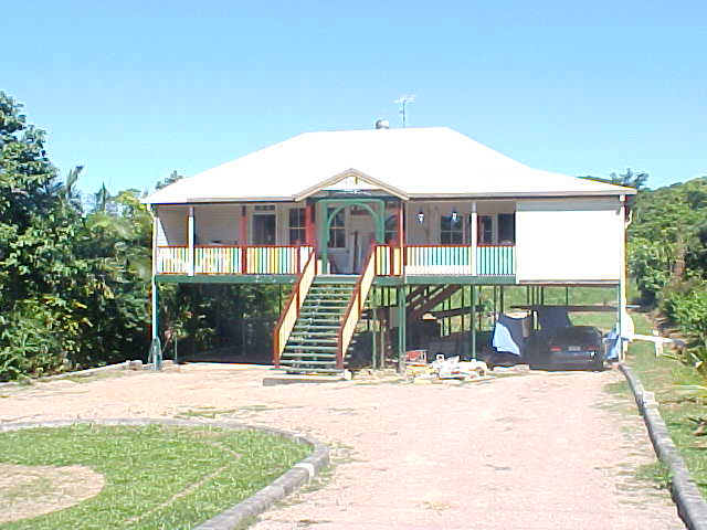 The Hill family live in this old Queenslander house. It has actually been moved from the northern city Innisfail to this location and is still under heavy renovations.