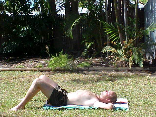 I could always take a healthy sun bath. Boy! I look white...