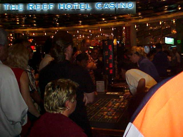Of course I had to gamble my few dollars, I am not in a casino every week. I am the bald head in the middle, watching my money being doubled!