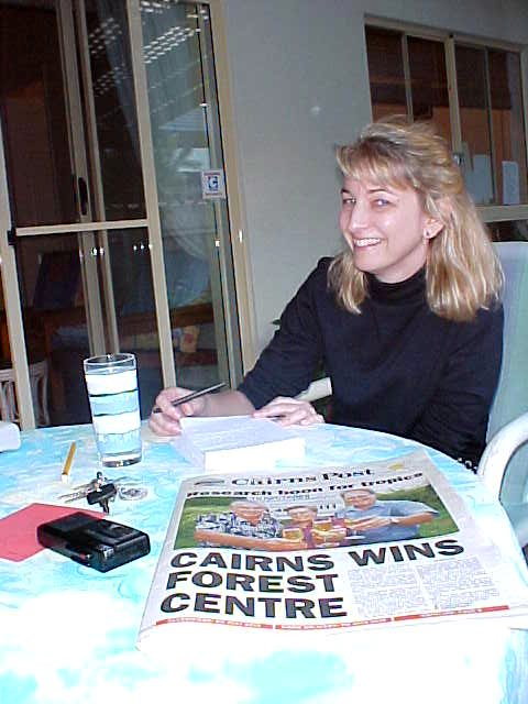 Margot, the reporter of the Cairns Post, was very impressed by my stories. I am looking forward to her story.