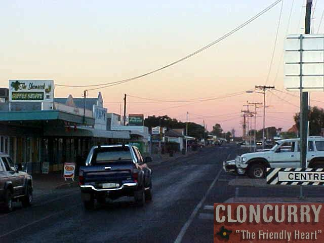 Cloncurry, or The Curry, where I arrived juster after sunset.