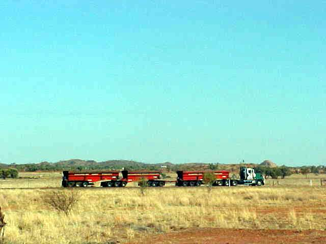 Here comes my transport, a 50m long road train!