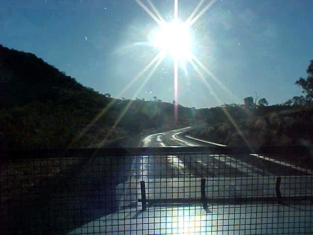 ...blinding sun!!!