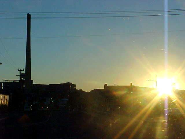 Across the street from this enormous giant huge biggy copper smelter!