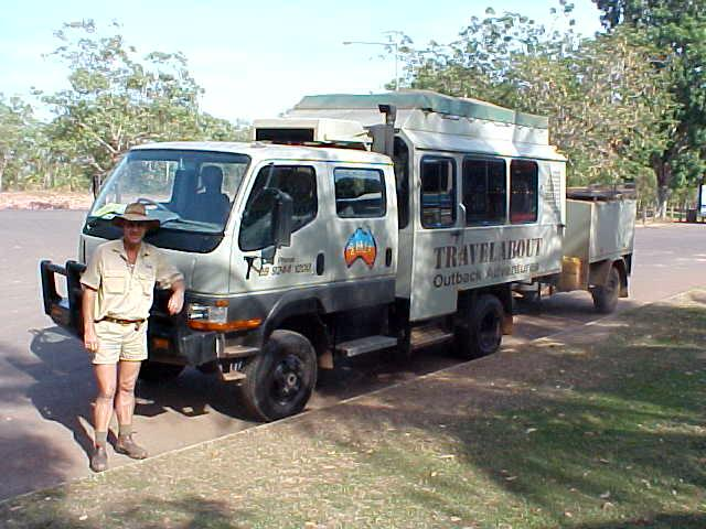 This is Dave the tour guide for the coming 24 days as I am on a trip from Darwin to Perth. And of course the 4WD super truck I was a passenger on!