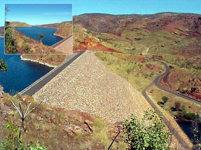 We had a stop at the big Ord River Dam on Lake Argyle. A bloody big damn too!