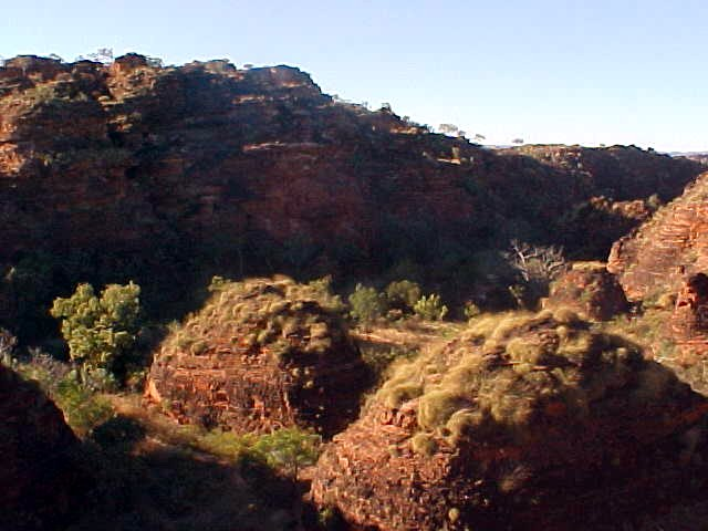 A view from the lookout over the Hidden Valley, a little miniture Bungle Bungles dome park, just a stone throw from Kununarra.