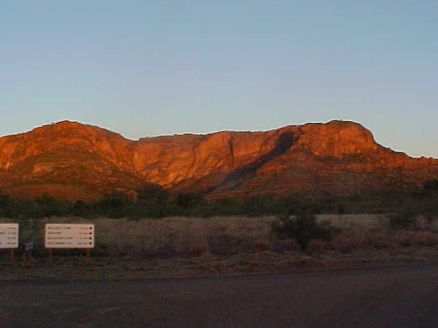 There we were, just before sunset, near the Bungle Bungle mountain ranges.