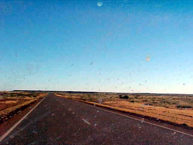 Windscreen view!!!! I was taken along by a representative from Perth!