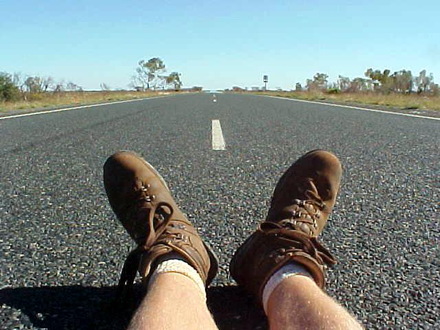 Sitting on an Australian Highway. Nothing. Nothing. Nothing.