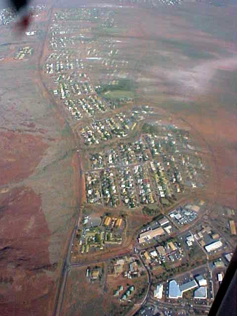 The Karratha strip as seen from above.