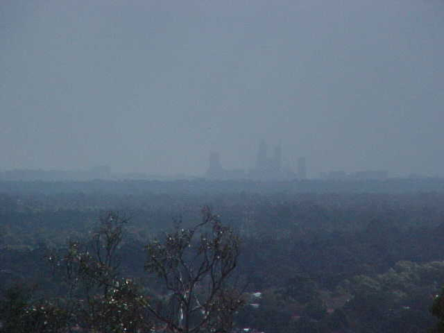 Perth as seen from Mt Nasura, just 20km from the city centre.