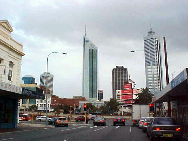 On our way to the commercial district of Perth...