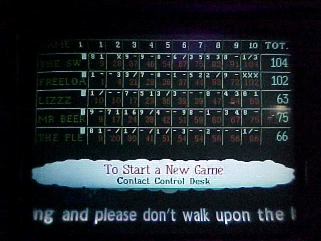 The final scoreboard, Freeloader on the second spot. Notice the three strikes in a row in the last round? Hehe.