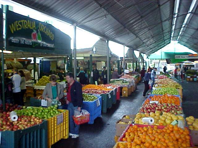 A view on the fruit and veggie market at the Military Markets in Midland.