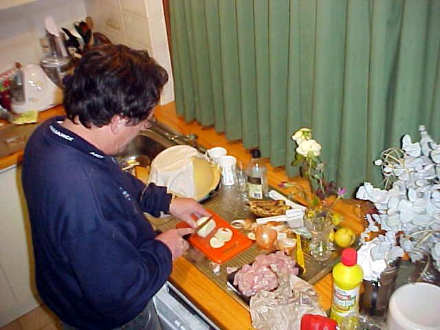John mostly prepares dinner and young Caroline cooks the food as she loves to cook.