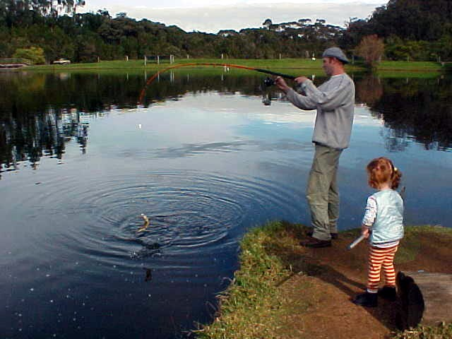 And as it is a trout farm, it didnt take too long to catch a trout. There are enough of them!
