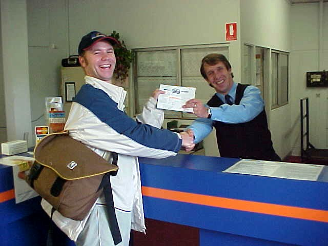 David Kinray, the sales manager of Greyhound, helped me out with a free ticket from Perth to Adelaide! Wow!