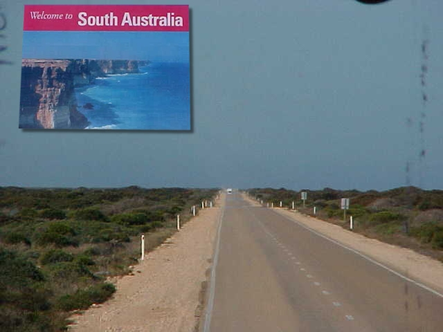 After crossing quarantine control post, I was welcomed to South Australia.